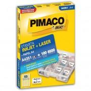 ETIQUETA PIMACO A4351 INK-JET/LASER 21,2X38,2MM C/6500UN