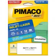 Etiqueta Pimaco A5Q-50100 Ink-Jet/Laser 50,0x100mm 36un