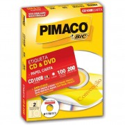 ETIQUETA PIMACO CD100B CDPPLY CD/DVD 115MM C/200UN