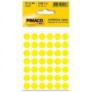 Etiqueta Pimaco TP12 Codificação Amarela 12mm 210un