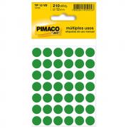 Etiqueta Pimaco TP12 Codificação Verde 12mm 210un