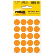 Etiqueta Pimaco TP19 Codificação Laranja 19mm 200un
