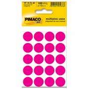 Etiqueta Pimaco TP19 Codificação Rosa Fluorescente 19mm 100un