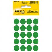 Etiqueta Pimaco TP19 Codificação Verde 19mm 200un