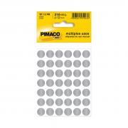 Etiqueta TP12 Multiuso Manual Prata 5 Folhas Pimaco