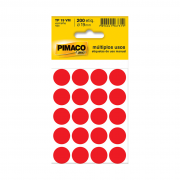 Etiqueta TP19 Multiuso Manual Vermelha 10 Folhas Pimaco