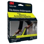 Fita Adesiva Antiderrapante 3M Safety Walk 50mmx5m Preto Neon