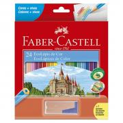 Lápis de Cor 24 Cores + Apontador Depósito Faber Castell