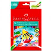 Lápis de Cor 36 Cores Aquarelável Faber Castell