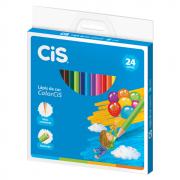 Lápis de Cor CIS 24 Cores Redondo ColorCIS