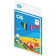 Lápis de Cor CIS 24 Cores Sextavado Nataraj + Apontador