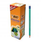 Lápis Nº2 Preto Sextavado Evolution com Borracha Caixa com 72 unidades Bic
