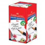 Lápis Preto Faber Castell Nº2 Sextavado Borracha 1205SM/B 144 Unidades