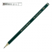 Lápis Técnico Faber Castell Preto Regent 9000-6B