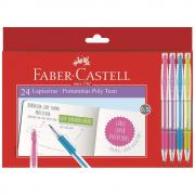 Lapiseira Faber Castell 0.5mm Poly Teen 24 Unidades Sortidas