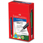 Lapiseira Faber Castell 0.7mm Grip Matic Super Metal 12 Unidades Sortidas