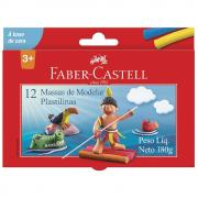 MASSA DE MODELAR 180G C/12 CORES BASE CERA FABER CASTELL