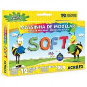Massa de Modelar Acrilex 180g Soft 12 Cores