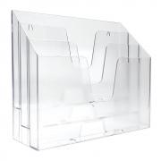 Organizador de Escritório Acrimet Horizontal Cristal Premium 869.1
