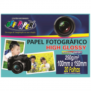 Papel Fotográfico Off Paper 250g 10x15 Glossy 20 Folhas