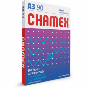 Papel Sulfite A3 Chamex Super Branco 90G 297x420mm 500 Folhas