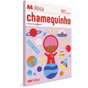 Papel Sulfite A4 Chamequinho Rosa 75G 210x297mm 100 Folhas