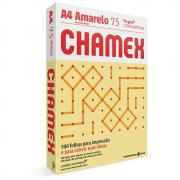 Papel Sulfite A4 Chamex Colors Amarelo 75G 210x297mm 500 Folhas
