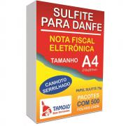 Papel Sulfite A4 Tamoio Danfe Branco Serrilhado 75g 210x297mm 500 Folhas