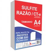 Papel Sulfite A4 Tamoio Razão CT-e Branco Serrilhado 75G 210x297mm 500 Folhas