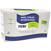 Papel Toalha Interfolha 20,5x22cm 2 Dobras 1250 Folhas Yuri Manikraft