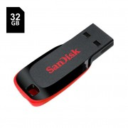 Pen Drive 32GB SanDisk Cruzer Blade Preto