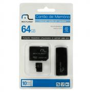 Pen Drive 64GB 3 em 1 Micro SD Adaptador MC115 Multilaser