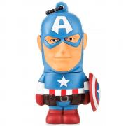 Pen Drive 8GB Capitão América Marvel Multilaser