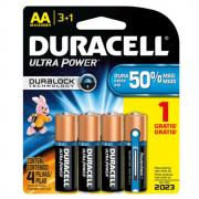 Pilha AA Pequena Ultra Power Leve 4 Pague 3 Duracell