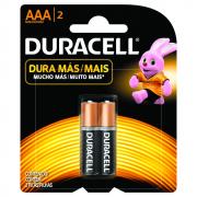 Pilha AAA Palito com 2 unidades Duracell