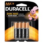 Pilha AAA Palito com 8 unidades Duracell