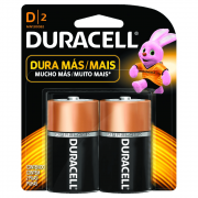 Pilha D Grande com 2 unidades Duracell