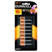 Pilha Duracell AA Pequena Cartela 16 Unidades