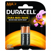 Pilha Duracell AAA Palito Cartela 2 Unidades