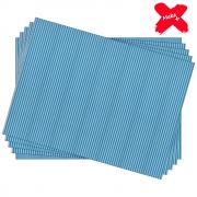 Placa E.V.A Estampado 60x40cm Listrado Azul 05un Make+