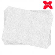 Placa E.V.A Glitter 60x40cm Branco 05un Make+