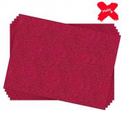 Placa E.V.A Glitter 60x40cm Pink 05un Make+