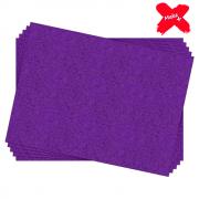 Placa E.V.A Glitter 60x40cm Violeta 05un Make+