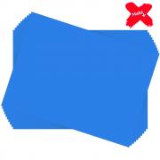 Placa E.V.A Liso 60x40cm Azul Escuro 10un Make+
