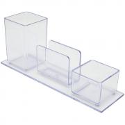 Porta Lápis/Clips/Lembrete Acrimet Cristal 940.3