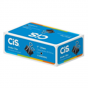 Prendendor Papel CIS 25mm 12un Preto