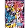 Caderno Universitário Tilibra Espiral Capa Dura 10 Matérias 200 Folhas Cor e Arte