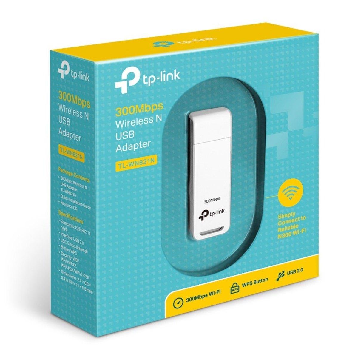Adaptador Wireless Tp-Link Tl-WN821N USB 300mbps
