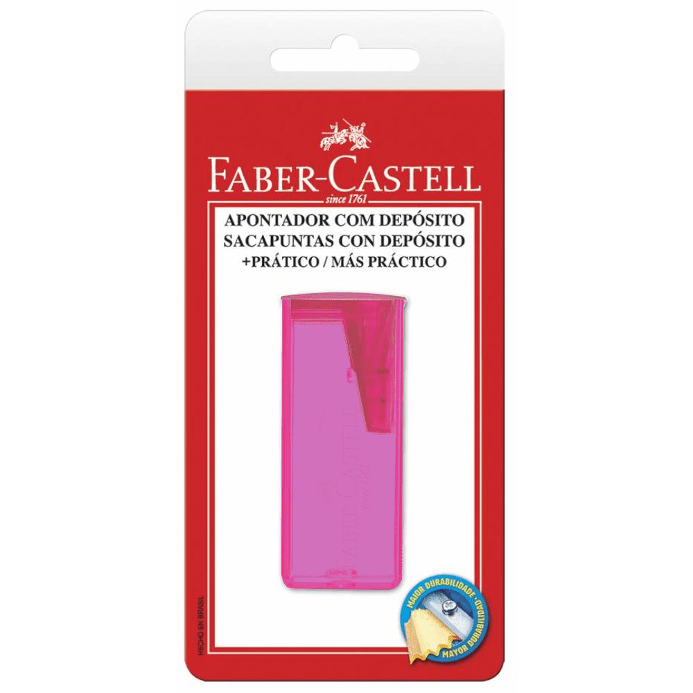 Apontador Depósito Neon Cores Sortidas Blister Faber Castell
