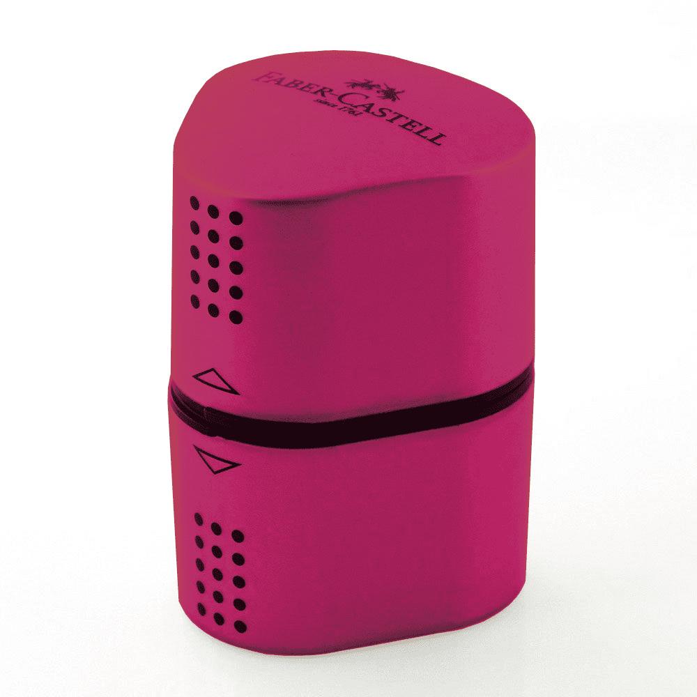 Apontador Depósito Grip 2001 3 Furos Cores Sortidas Faber Castell